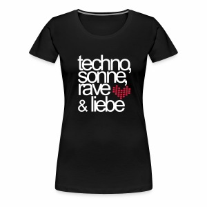 Techno Sonne Rave Liebe - T-Shirt - Frauen Premium T-Shirt