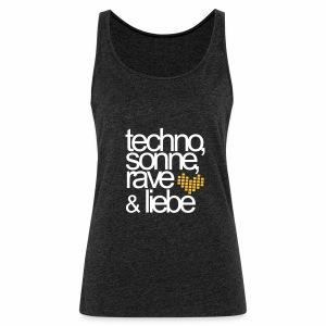 Techno Sonne Rave Liebe - Tanktop - Frauen Premium Tank Top