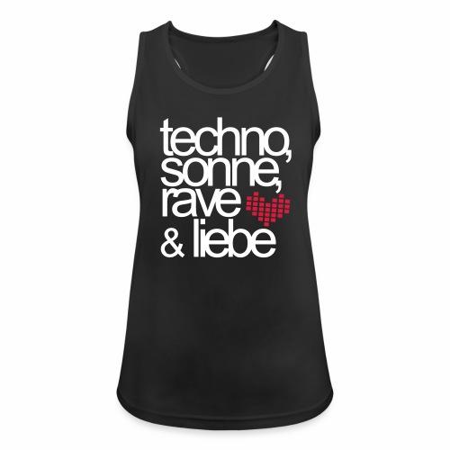 Techno Sonne Rave Liebe - Tanktop - Frauen Tank Top atmungsaktiv