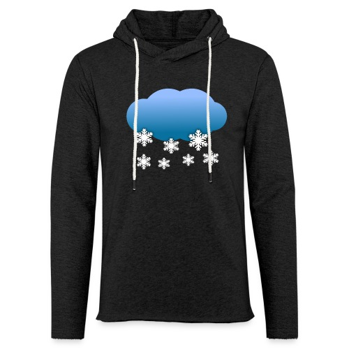 Wolke Schnee Winter - Leichtes Kapuzensweatshirt Unisex