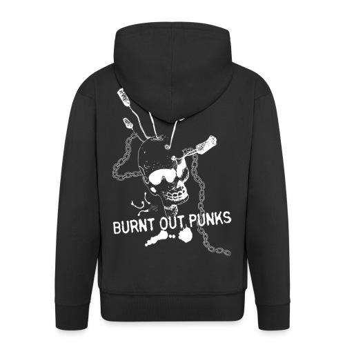 Burnt Out Punks Black Hoodie - Men's Premium Hooded Jacket