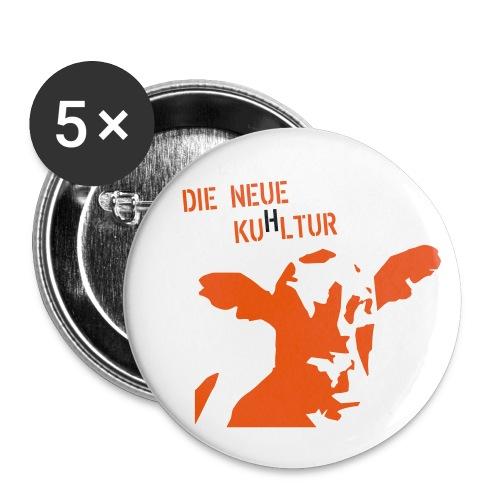 56mm Button Die neue KuHltur - Buttons groß 56 mm (5er Pack)