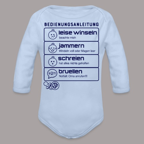 Bedienungsanleitung - Baby Bio-Langarm-Body