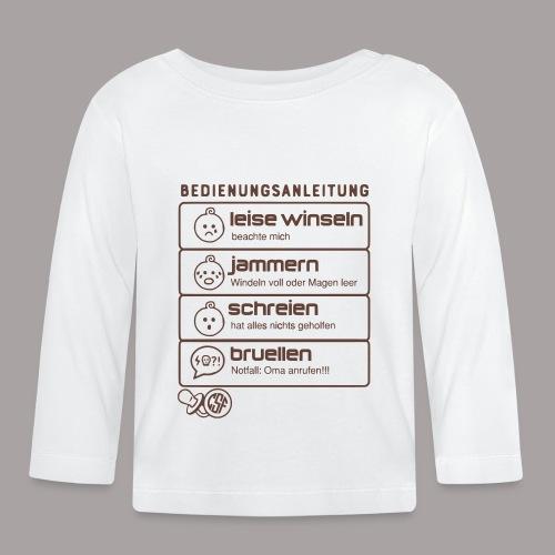 Bedienungsanleitung - Baby Langarmshirt