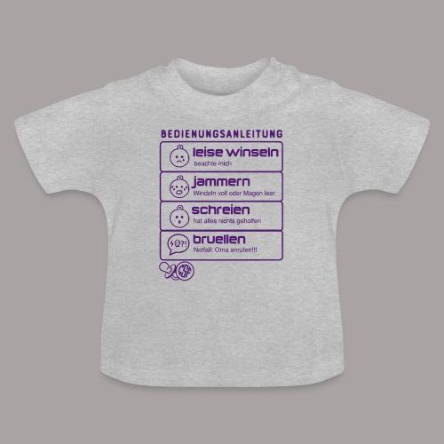 Bedienungsanleitung - Baby T-Shirt