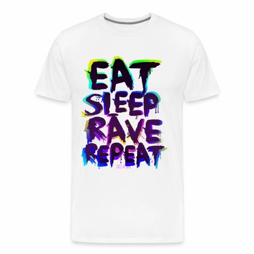 Eat Sleep Rave Repeat - T-Shirt - Männer Premium T-Shirt