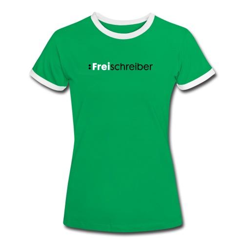 T-Shirt für Sie - Frauen Kontrast-T-Shirt