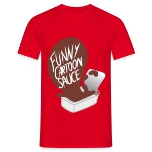 FUNNY CARTOON SAUCE - Mens - Men's T-Shirt