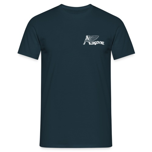 AERODYNE bleu logo rétro - T-shirt Homme