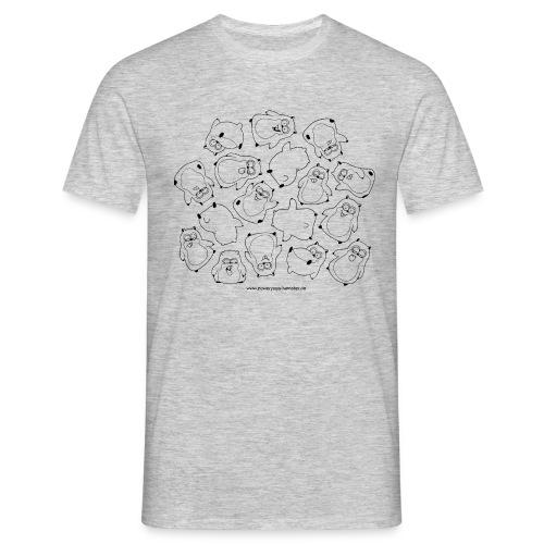 Haufen Hamster - Männer T-Shirt
