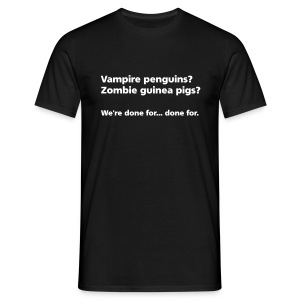 MENS SIMPLE: Vampire penguins? Zombie guinea pigs? - Men's T-Shirt