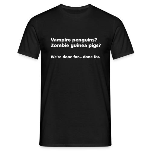 MENS SIMPLE: Vampire penguins? Zombie guinea pigs? - Men's T-Shirt