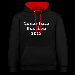 Tarantula Faction 2018 Hoodie White Spider - Contrast Colour Hoodie