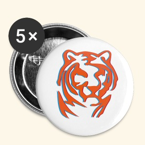 BADGE 3D TIGER WOOD - Badge petit 25 mm