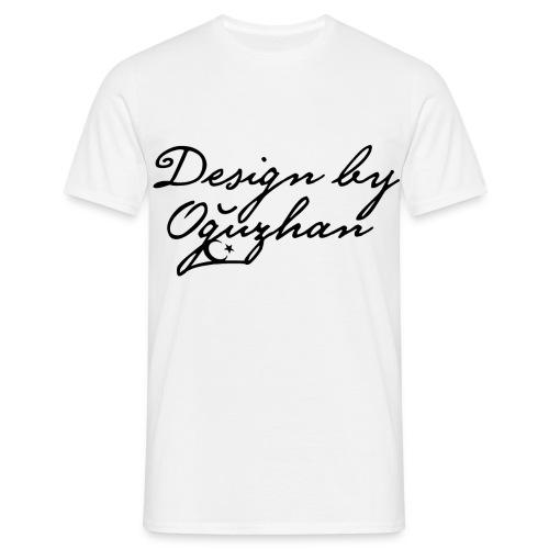Design by Oguzhan - Beyaz Siyah T-Shirt - Männer T-Shirt