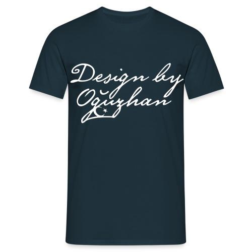 Design by Oguzhan - Navy Mavi Beyaz T-Shirt - Männer T-Shirt