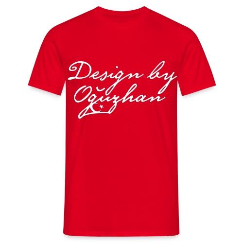 Design by Oguzhan Kirmizi Beyaz - Männer T-Shirt