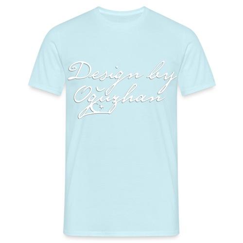 Design by Oguzhan SKY beyaz - Männer T-Shirt