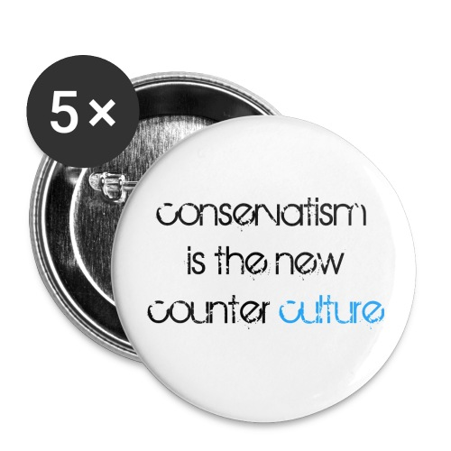 Counterculture camiseta - Paquete de 5 chapas pequeñas (25 mm)