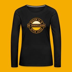 Dames Lange Mouw  - Vrouwen Premium shirt met lange mouwen
