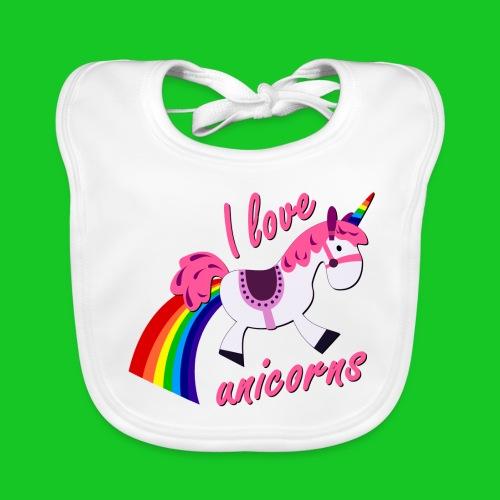 I love unicorns slab - Bio-slabbetje voor baby's
