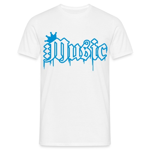 Heren Shirt | Music SKR (blue) - Mannen T-shirt