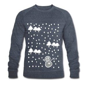Let it snow Christmas long sleeve - Men's Organic Sweatshirt by Stanley & Stella