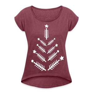 Christmas tree Women's T-Shirt - Women's T-shirt with rolled up sleeves