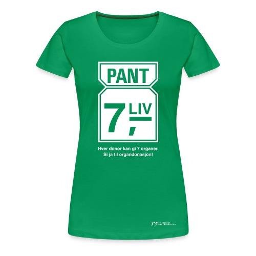 Pant 7 liv – dame - Premium T-skjorte for kvinner
