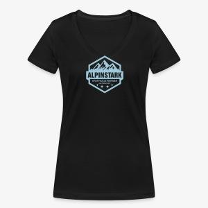 Alpinstark - Ladys Shirt - Frauen Bio-T-Shirt mit V-Ausschnitt von Stanley & Stella