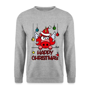 Sweat Homme Unicorn Happy Christmas, Licorne Noël - Sweat-shirt Homme