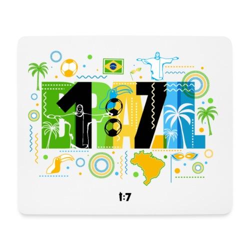 Mousepad (Querformat) - wm2018,wm2014,wm,weltmeister,fussballweltmeisterschaft,fussballweltmeister,fussballer,fussball-fan,fussball wm,fussball,einzusieben,deutschland,Mannschaft,Brasilien,1zu7