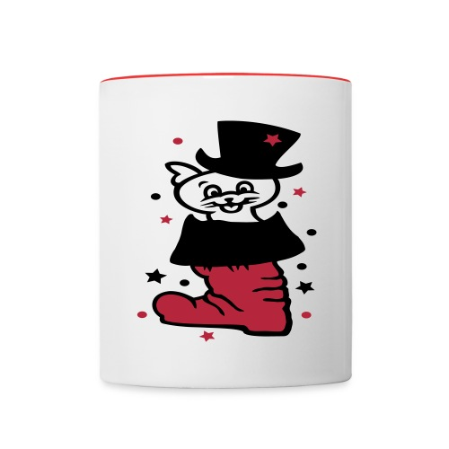 Glückskater - Tasse zweifarbig