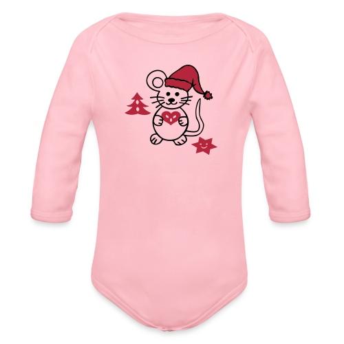 Baby Body mit Maus - Baby Bio-Langarm-Body