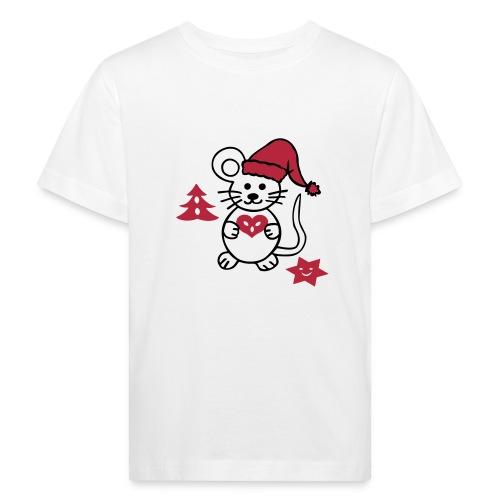 Weihnachtsmaus - Kinder Bio-T-Shirt