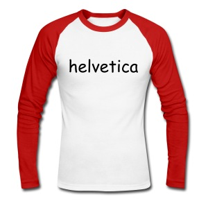 Comic Helvetica - Men's Long Sleeve Baseball T-Shirt