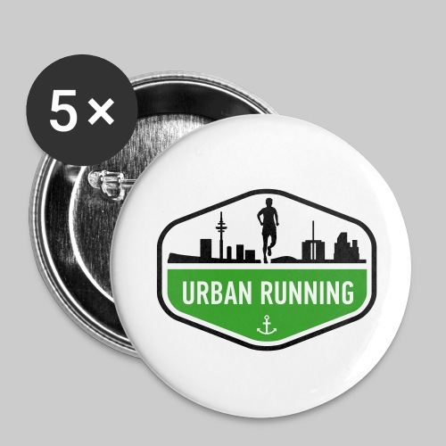 Urban Running Button 5er Pack - Buttons klein 25 mm
