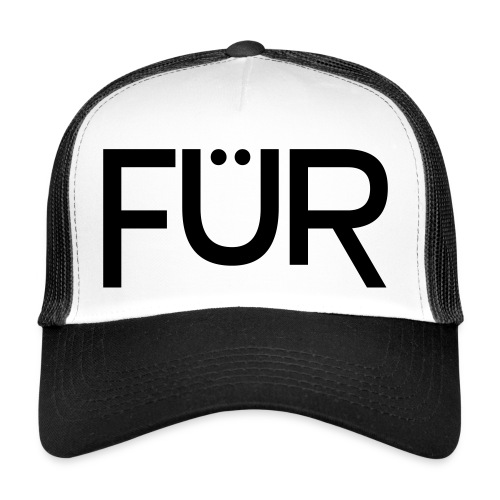 FÜR Magazine Trucker Cap Black On White - Trucker Cap