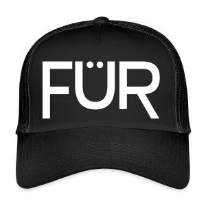 FÜR Magazine Trucker Cap White On Black - Trucker Cap