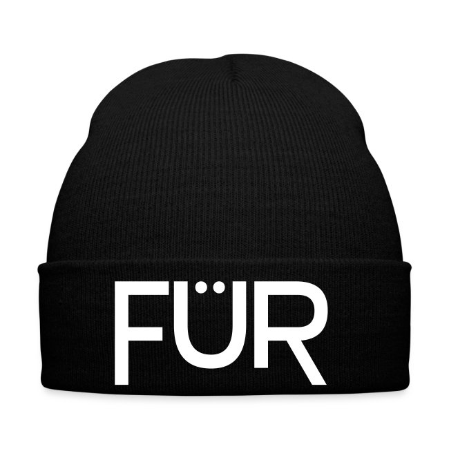 FÜR Magazine Stocking Cap White On Black