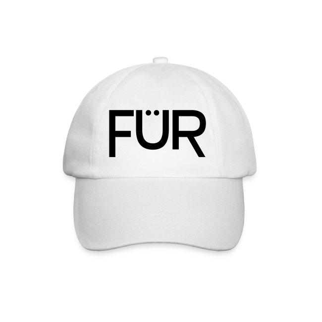 FÜR Magazine Baseball Cap Black On White