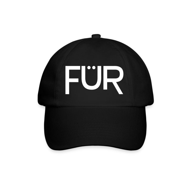 FÜR Magazine Baseball Cap White On Black