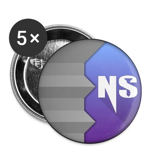 Badge NoScrew Violet-Bleu - Badge moyen 32 mm