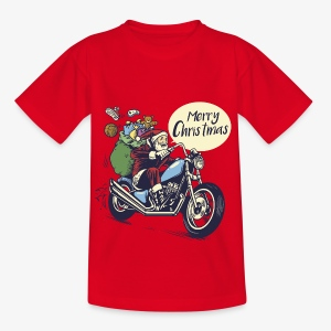 Santa Motorbike Teenage Shirt - Teenage T-shirt