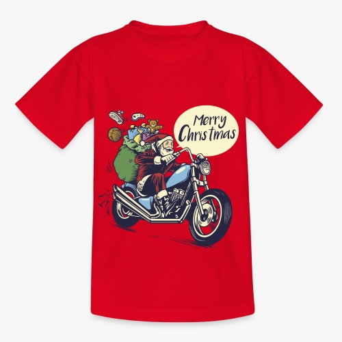 Santa Motorbike Teenage Shirt - Teenage T-Shirt