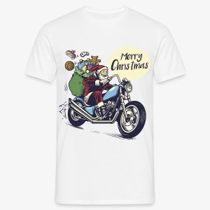 Santa Motorbike Mens Shirt - Men's T-Shirt