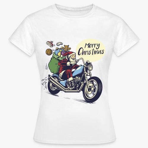 Santa Motorbike Womens Shirt - Women's T-Shirt