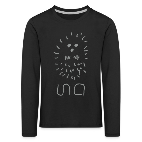Kinder Shirt eingerollte Ina Igel - Kinder Premium Langarmshirt