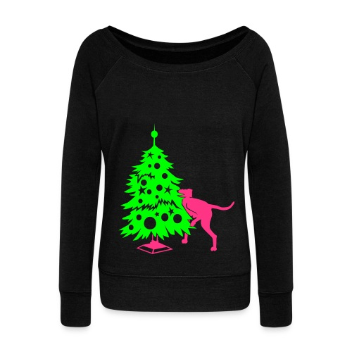 Weihnachtsbaum für Doggen - Women's Boat Neck Long Sleeve Top