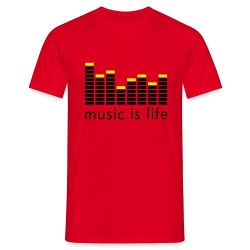 T-SHIRT MUSIC HOMME NOIR - T-shirt Homme